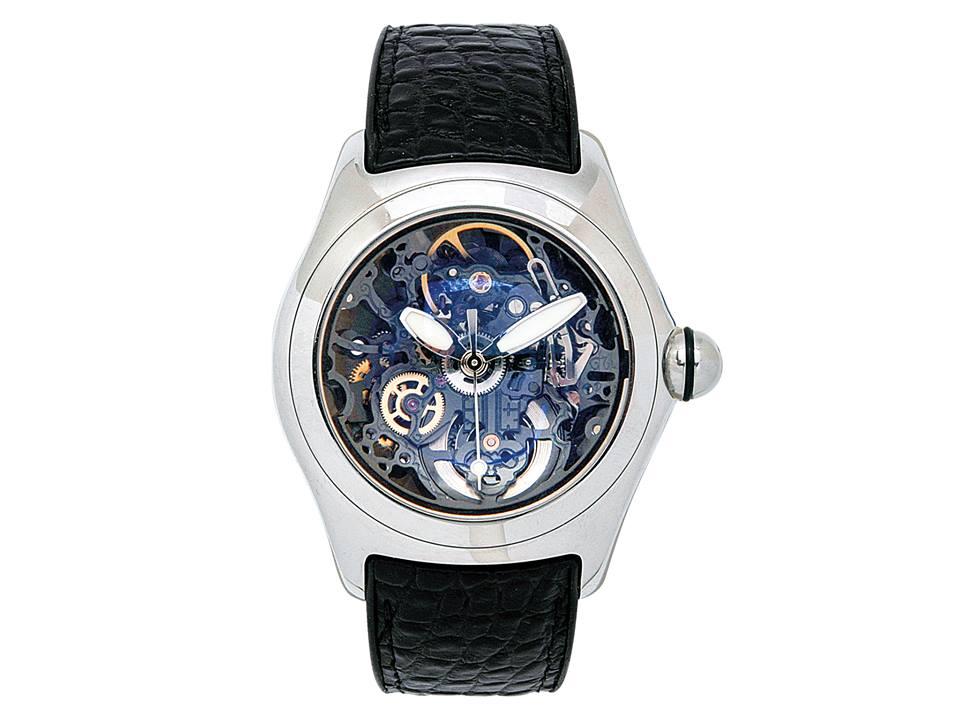 Gentleman's Stainless Steel 'Bubble Skeleton' Wristwatch, Corum