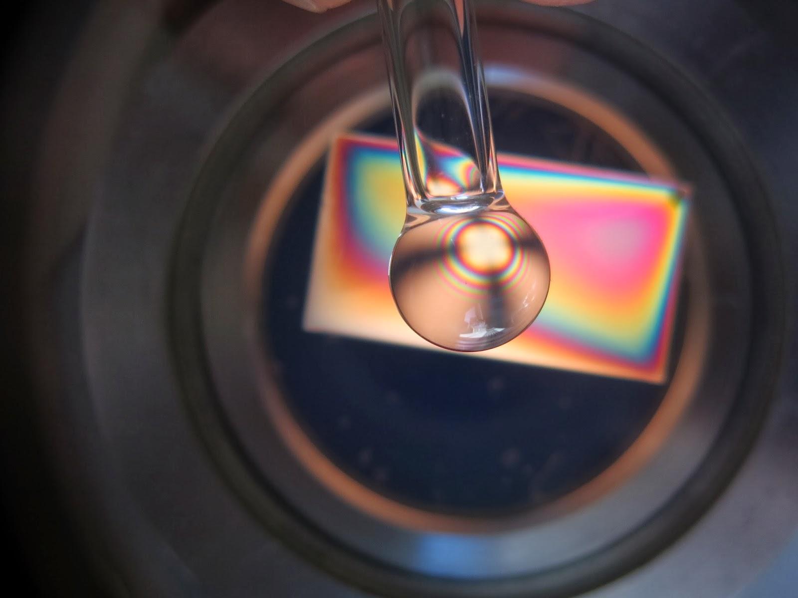 Rock crystal quartz in polariscope