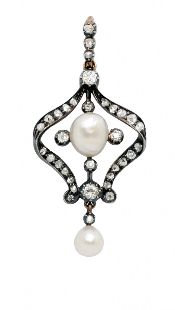 Belle Epoque Pearl and Pendant: Lot 195, Spring 2014 sale