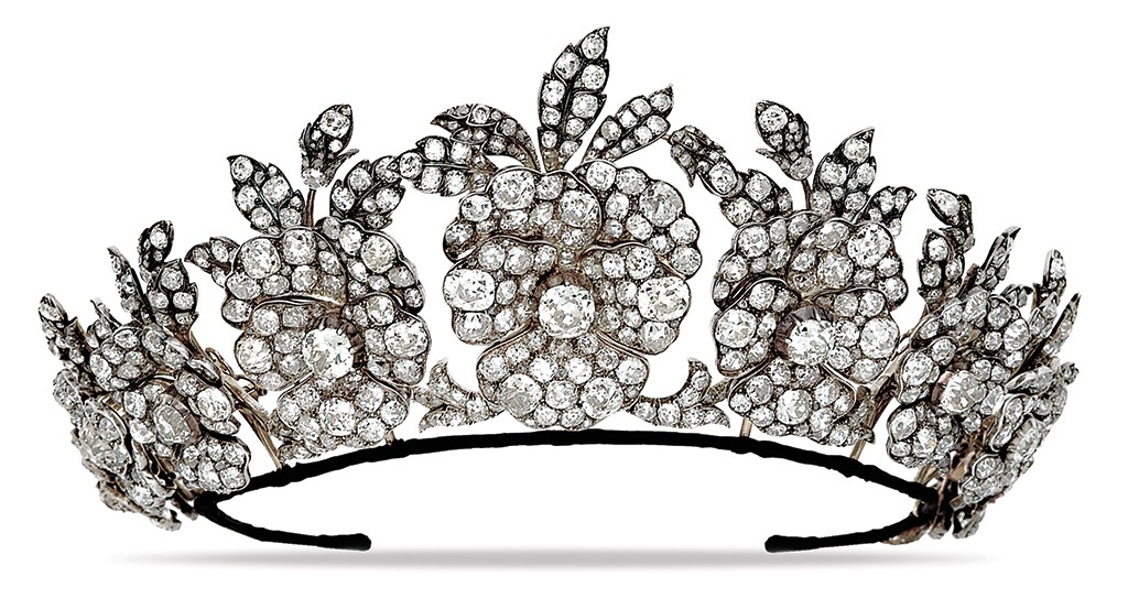 Exceptional antique diamond tiara