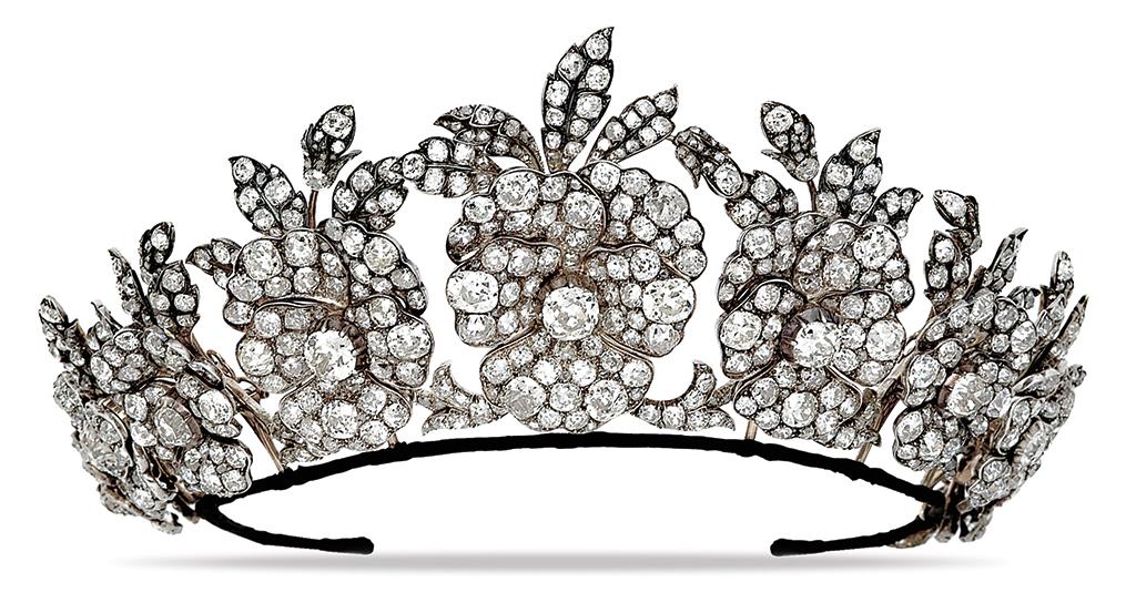 Exceptional antique diamond tiara