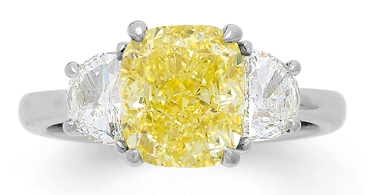 internally flawless 3.23 carat fancy intense yellow
