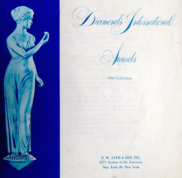 Diamonds International Awards catalogue 1960
