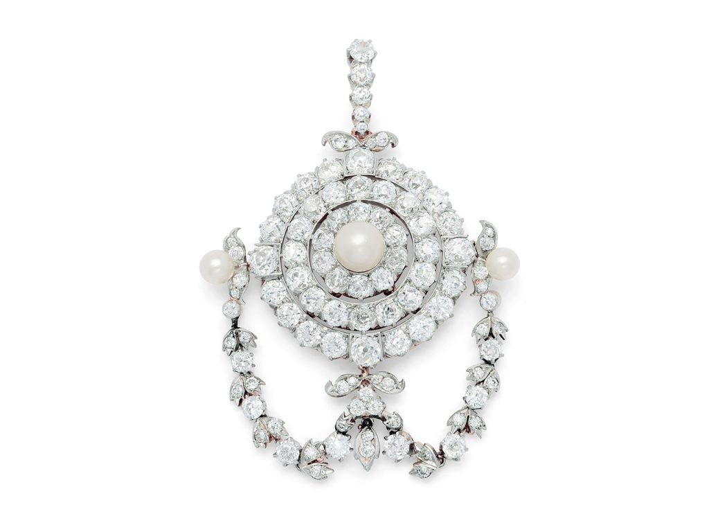 Late Victorian Natural Pearl And Diamond Pendant Brooch Lot 404 In The Dupuis Fall 2018 Important Jewels Auction